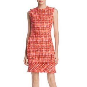 NWT Elie Tahari Andrea tweed sheath dress- Red